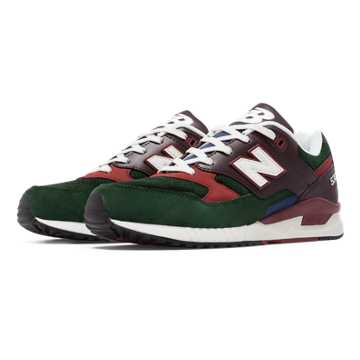 New Balance 530 90s Running Woods, Forest Green with Brown & Rust