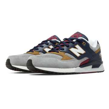 New Balance 530 90s Running Woods, Light Grey with Stone & Navy