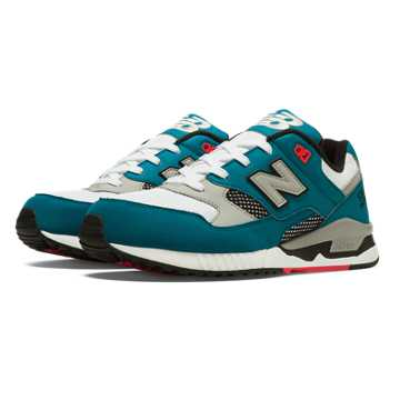 New Balance 530 90s Running, Teal with Light Grey & White