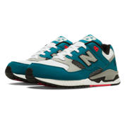 530 90s Running, Teal with Light Grey & White