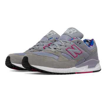 New Balance 530 90s Camo, Silver Mink with Poisonberry