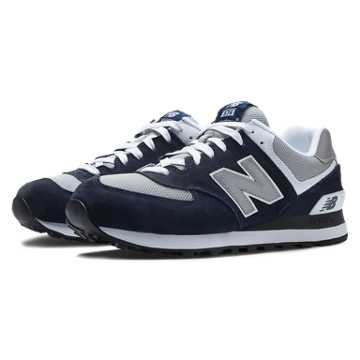 New Balance 574 New Balance, Navy with Light Grey & White
