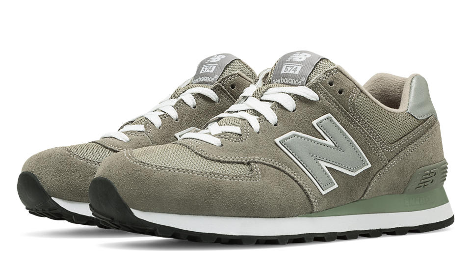 new balance 574 green suede pumps