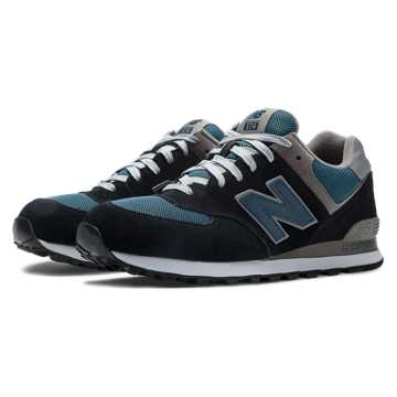 New Balance 574 New Balance, Navy with Teal & Grey