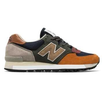 New Balance 575 Made in UK Surplus, Green with Navy & Burnt Orange