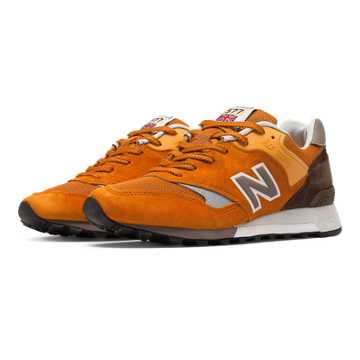 New Balance 577 Made in UK English Tender, Barbados with Brown