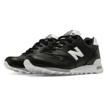 New Balance 577 Made in UK Football, Black with White