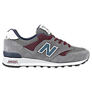 New Balance 577, Grey with Burgundy & Navy
