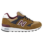 New Balance 577, Tan with Navy & Burgundy