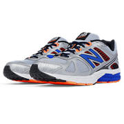 NB New Balance 670v1, Silver with Orange & Blue