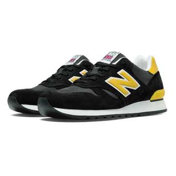 New Balance 670 Made in UK, Black with Yellow