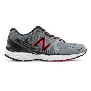 New Balance New Balance 680v4, Steel with Black & Alpha Red