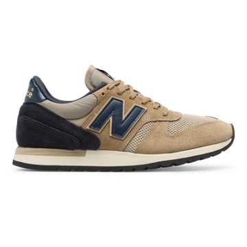 New Balance 770 Made in UK Suede, Beige with Navy