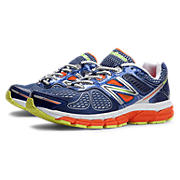 New Balance 860v4, Blue with Orange & White
