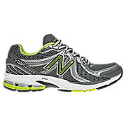 New Balance 860v2, Silver with Green