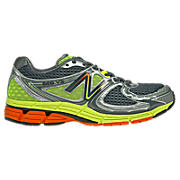 New Balance 860v3, Grey with Lime Green & Orange