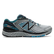 New Balance 860v7 NYC, Black with Metallic Silver & Blue Infinity
