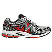 New Balance 860v2, Silver with Red & Black