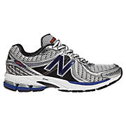 New Balance 860v2, Silver with Blue & White