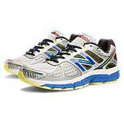 New Balance 860v4, Silver with Blue & Limelight