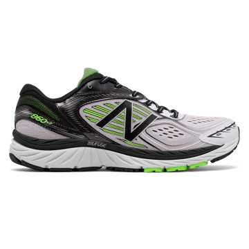 New Balance New Balance 860v7, White with Black & Energy Lime