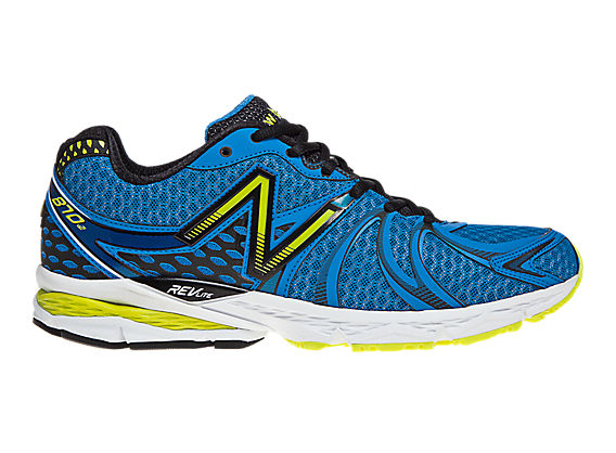 New Balance 870v2, Blue with Yellow & Black