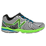 New Balance 870v2, Silver with Lime Green & Blue Atoll