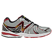 New Balance 870v2, Silver with Red & Black