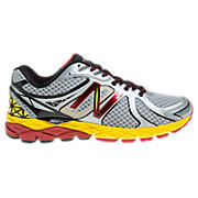 New Balance 870v3, Silver with Yellow & Red