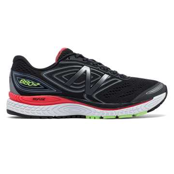 New Balance New Balance 880v7, Black with Thunder & Energy Red