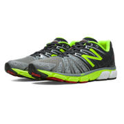 New Balance 890v5, Grey with Dark Grey & Lime Green