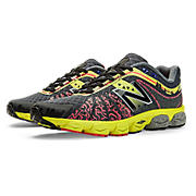 Mens Limited Edition NYC 890v4, Black with Ruby & Yellow