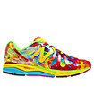 Mens Tie Dye 890v3, Neon Yellow with Red & Blue
