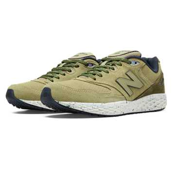 New Balance 988 Fresh Foam Low-Cut, Tan with Brown & Navy