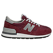 New Balance 990, Burgundy with Grey