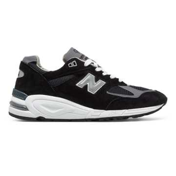 New Balance 990v2 Heritage, Black with Pewter