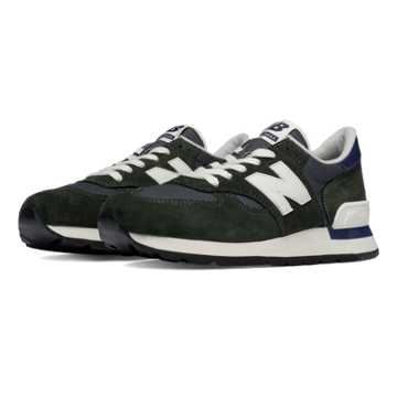 New Balance 990 Heritage, Green with Navy