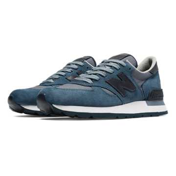 New Balance 990 Distinct Mid-Century Modern, Blue with Navy
