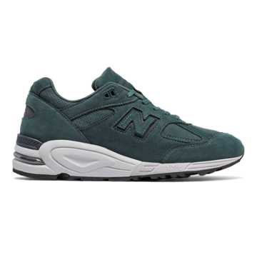 New Balance 990v2 Nubuck, Dark Green with Dark Grey