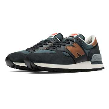 New Balance 990 Distinct Retro Ski, Grey with Black & Carmel