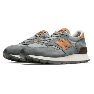 New Balance 990 Distinct Hamptons, Grey with Tan