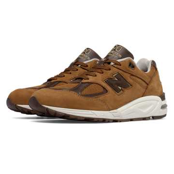 New Balance 990v2 New Balance, Brown with White & Brown