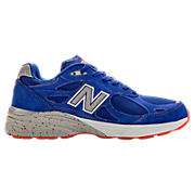 Mens Limited Edition NYC 990v3, Blue with Race Red & White