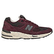 New Balance 991, Burgundy with Dark Grey