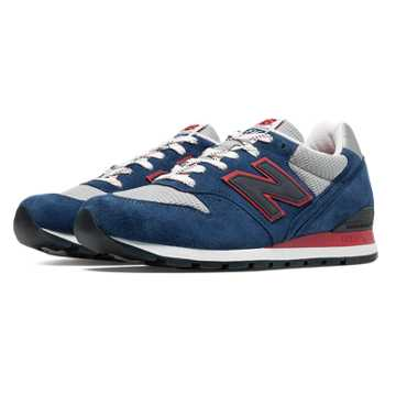 New Balance 996 Connoisseur East Coast Summer, Deep Blue with Grey & Red