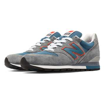 New Balance 996 Connoisseur Retro Ski, Grey with Blue Ashes & Orange