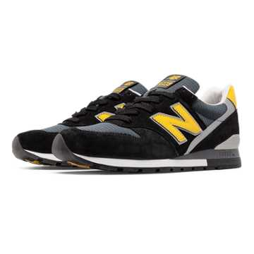 New Balance 996 Connoisseur Retro Ski, Black with Yellow & Silver
