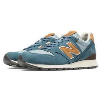 New Balance 996 Distinct USA, Chambray with Tan & Blue Jewel