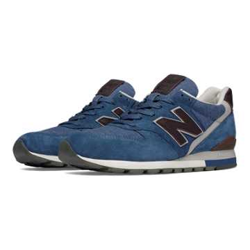 New Balance 996 Explore by Sea, Navy with Burgundy