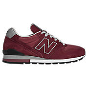 New Balance 996, Burgundy with Grey
